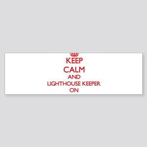 Keep Calm and Lighthouse Keeper ON Bumper Sticker