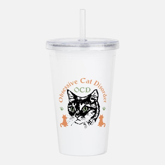 Obsessive Cat Disorder Acrylic Double-Wall Tumbler