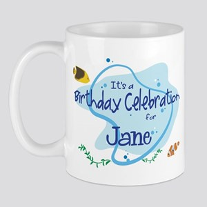 Celebration for Jane (fish) Mug