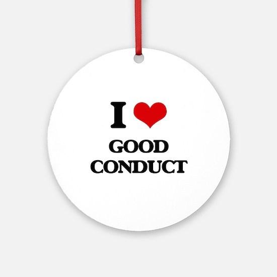 I love Good Conduct Ornament (Round)