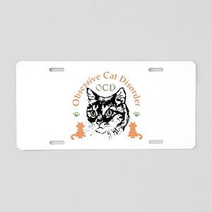 Obsessive Cat Disorder Aluminum License Plate
