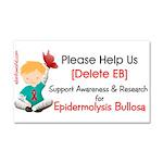 Delete Eb Epidermolysis Bullosa Car Magnet 20 X 12