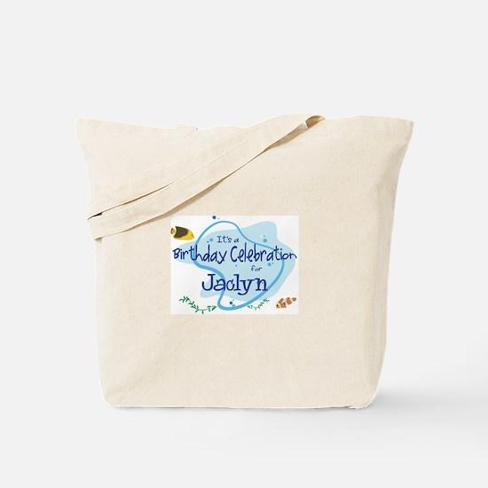 Celebration for Jaclyn (fish) Tote Bag