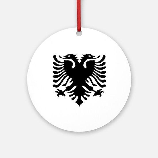 Albanian Eagle Emblem Ornament (Round)