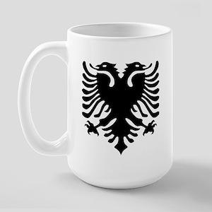 Albanian Eagle Emblem Large Mug