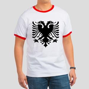 Albanian Eagle Emblem Ringer T