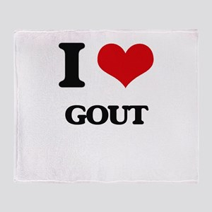 I Love Gout Throw Blanket