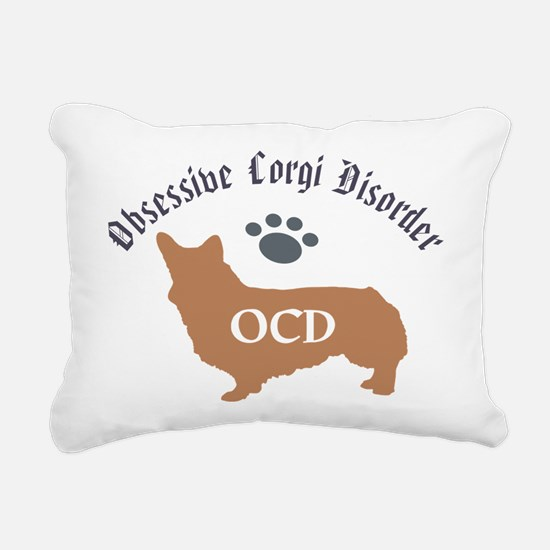 Obsessive Corgi Disorder Rectangular Canvas Pillow