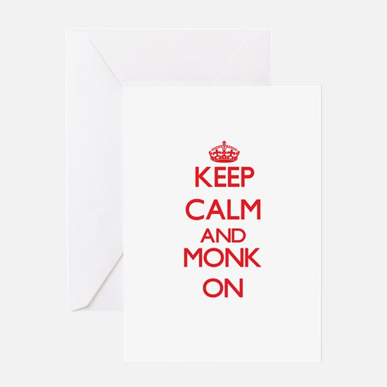 Keep Calm and Monk ON Greeting Cards