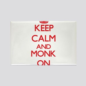 Keep Calm and Monk ON Magnets