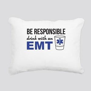 Drink with an EMT Rectangular Canvas Pillow