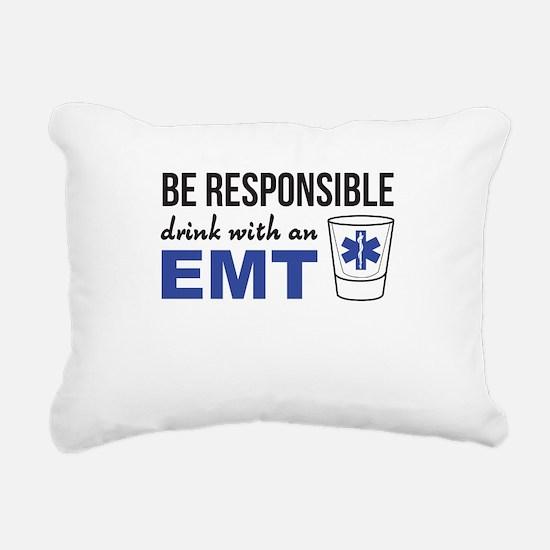 Drink with an EMT Rectangular Canvas Pillow