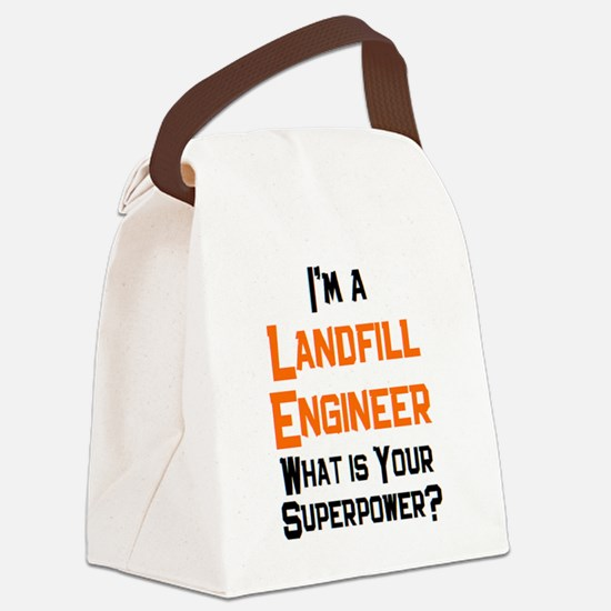 landfill engineer Canvas Lunch Bag