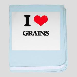I Love Grains baby blanket