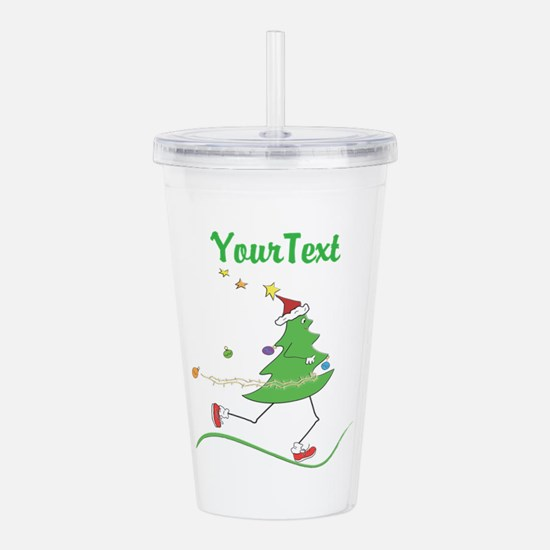 Text Option Xmas Run Acrylic Double-wall Tumbler