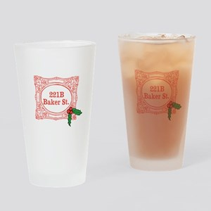 Holmes for Christmas Drinking Glass