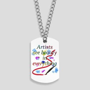 Artists See Beauty Dog Tags
