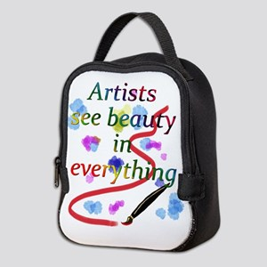 Artists See Beauty Neoprene Lunch Bag