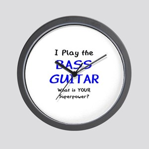 play bass guitar Wall Clock
