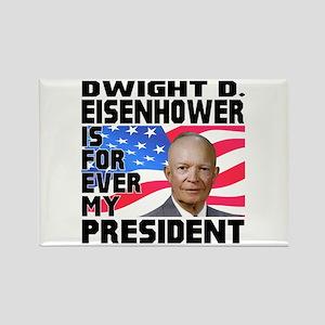 Eisenhower 4ever Rectangle Magnet