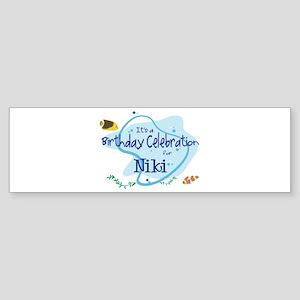 Celebration for Niki (fish) Bumper Sticker