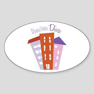 Downtown Diva Sticker