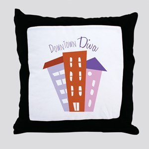 Downtown Diva Throw Pillow
