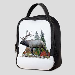 Bull elk Neoprene Lunch Bag