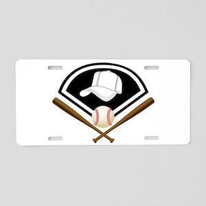 Baseball Gear Aluminum License Plate
