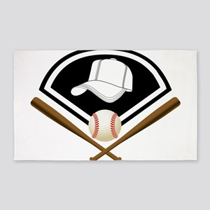 Baseball Gear Area Rug