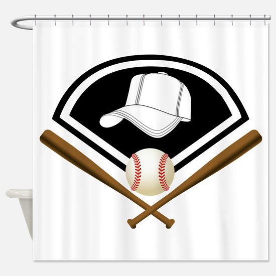 Baseball Gear Shower Curtain