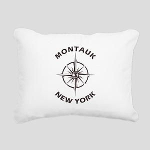 New York - Montauk Rectangular Canvas Pillow