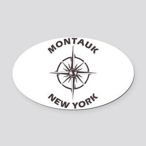 New York - Montauk Oval Car Magnet
