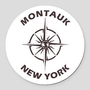 New York - Montauk Round Car Magnet