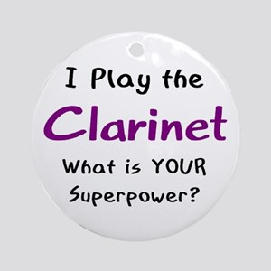 play clarinet Ornament (Round)