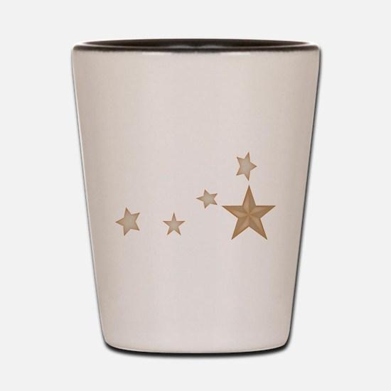 Silver stars.gif Shot Glass