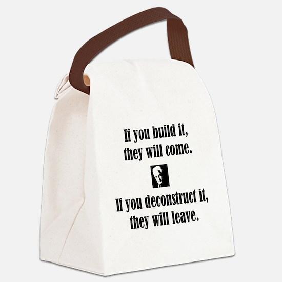 Deconstruct It Canvas Lunch Bag