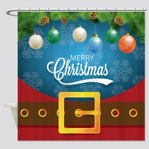 Merry Christmas Santa Suit Shower Curtain