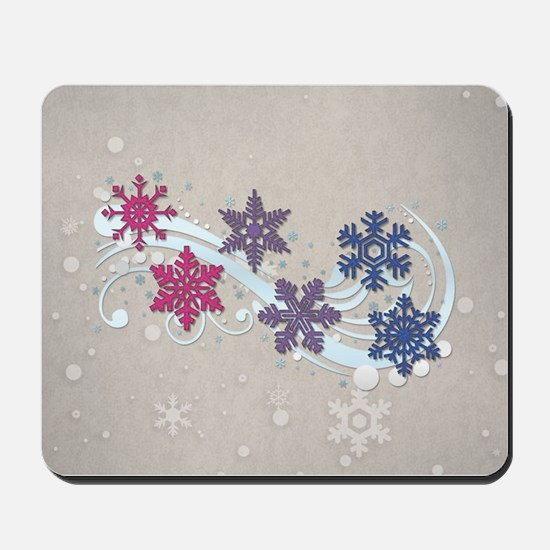 Bisexual Snow Flakes Mousepad