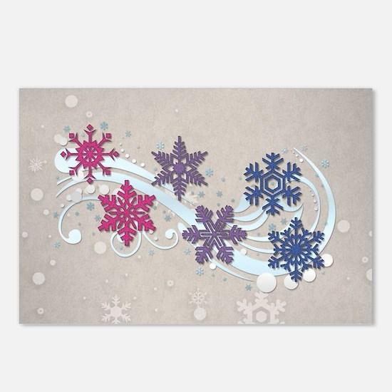 Bisexual Snow Flakes Postcards (Package of 8)