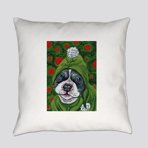 Christmas Pit Bull Elf Everyday Pillow
