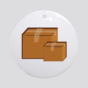 Moving Boxes Ornament (Round)
