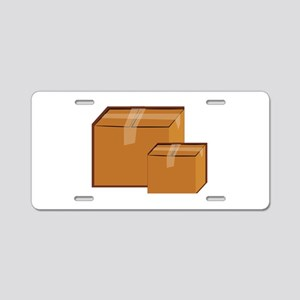 Moving Boxes Aluminum License Plate