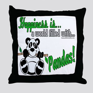 Happiness is Pandas Throw Pillow