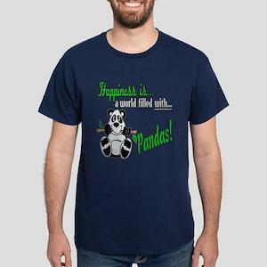 Happiness is Pandas Dark T-Shirt
