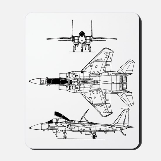 F-15 Eagle Schematic Mousepad