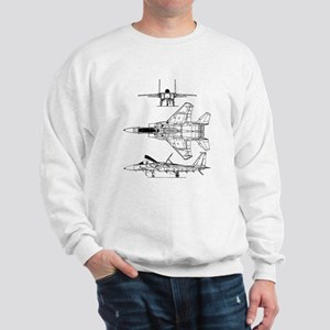 F-15 Eagle Schematic Sweatshirt