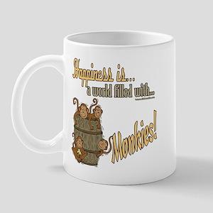 Happiness is a monkey Mug