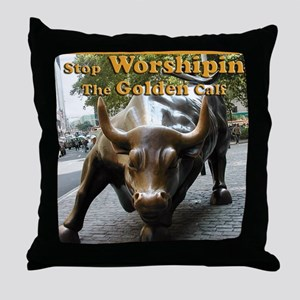 The Golden Calf Throw Pillow