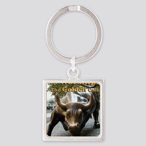 The Golden Calf Square Keychain
